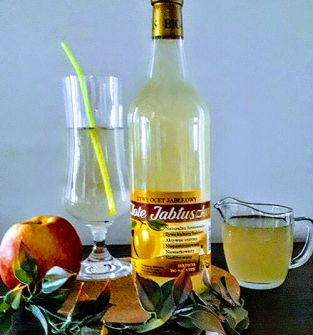 """Ocet jabłkowy'złote jabłuszko"""" 0,7l"""
